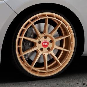 Tec Speedwheels GT8 rosé gold Felge mit Reifen in 20Zoll Winterfelge Alufelge auf silbernem Ford Mondeo IV Limousine Typ BA7 Turnier Fließheck ⬇️ mit 15mm Tieferlegung ⬇️ Industriehalle 1 Thumbnail
