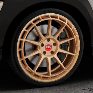 Tec Speedwheels GT8 rosé gold Felge mit Reifen in 20Zoll Winterfelge Alufelge auf silbernem Hyundai Kona Typ OS ⬇️ mit 15mm Tieferlegung ⬇️ Industriehalle 1 Thumbnail