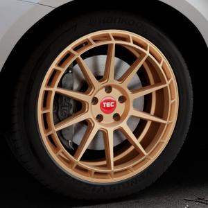 Tec Speedwheels GT8 rosé gold Felge mit Reifen in 20Zoll Winterfelge Alufelge auf silbernem Volvo XC60 Typ D Facelift ⬇️ mit 15mm Tieferlegung ⬇️ Industriehalle 1 Thumbnail