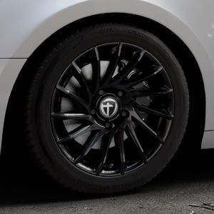 TOMASON TN16 Black painted Felge mit Reifen schwarz in 17Zoll Winterfelge Alufelge auf silbernem Audi A4 Typ B9 (Avant) ⬇️ mit 15mm Tieferlegung ⬇️ Industriehalle 1 Thumbnail