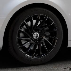 TOMASON TN16 Black painted Felge mit Reifen schwarz in 17Zoll Winterfelge Alufelge auf silbernem Audi A4 Typ B9 (Limousine) ⬇️ mit 15mm Tieferlegung ⬇️ Industriehalle 1 Thumbnail