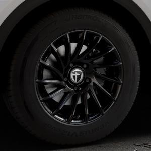 TOMASON TN16 Black painted Felge mit Reifen schwarz in 17Zoll Winterfelge Alufelge auf silbernem Audi Q5 II Typ FY ⬇️ mit 15mm Tieferlegung ⬇️ Industriehalle 1 Thumbnail
