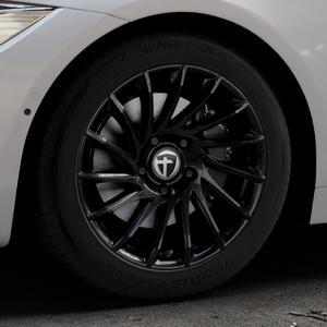TOMASON TN16 Black painted Felge mit Reifen schwarz in 17Zoll Winterfelge Alufelge auf silbernem BMW 418d Typ F36 (Gran Coupe) 420d xDrive 420i 428i 435i 430d 440i 418i 430i 425d ⬇️ mit 15mm Tieferlegung ⬇️ Industriehalle 1 Thumbnail
