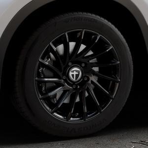TOMASON TN16 Black painted Felge mit Reifen schwarz in 17Zoll Winterfelge Alufelge auf silbernem BMW X1 Typ F48 (UKL-L) (F1X) ⬇️ mit 15mm Tieferlegung ⬇️ Industriehalle 1 Thumbnail