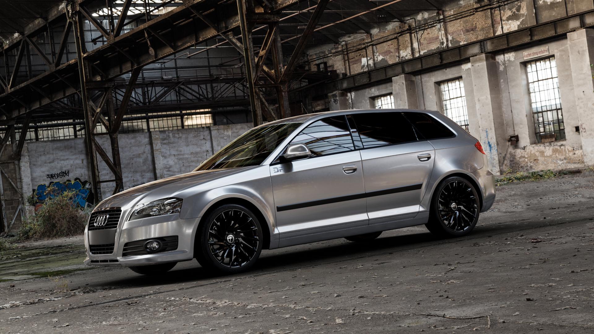 TOMASON TN16 Black painted Felge mit Reifen schwarz in 18Zoll Winterfelge Alufelge auf silbernem Audi A3 Typ 8P (Sportback) 1,6l 75kW (102 PS) 2,0l FSI 110kW (150 1,9l TDI 77kW (105 103kW (140 TFSI 147kW (200 85kW (116 100kW (136 1,8l 118kW (160 125kW (170 1,4l 92kW (125 120kW (163 quattro 3,2l V6 184kW (250 S3 195kW (265 1,2l 66kW (90