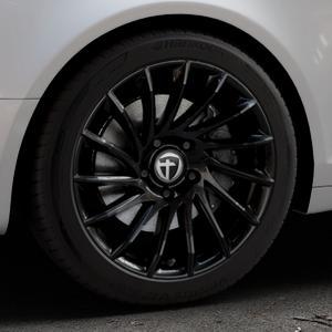 TOMASON TN16 Black painted Felge mit Reifen schwarz in 18Zoll Winterfelge Alufelge auf silbernem Audi A6 Typ 4F/C6 (Avant) ⬇️ mit 15mm Tieferlegung ⬇️ Industriehalle 1 Thumbnail