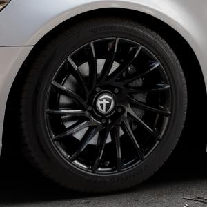 TOMASON TN16 Black painted Felge mit Reifen schwarz in 18Zoll Winterfelge Alufelge auf silbernem Audi A6 Typ 4G/C7 (Limousine) ⬇️ mit 15mm Tieferlegung ⬇️ Industriehalle 1 Thumbnail