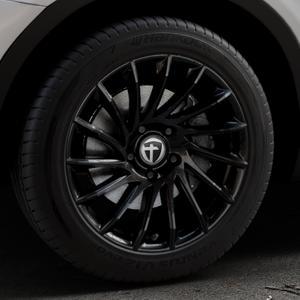TOMASON TN16 Black painted Felge mit Reifen schwarz in 18Zoll Winterfelge Alufelge auf silbernem BMW X3 Typ F25 (X3, X-N1) ⬇️ mit 15mm Tieferlegung ⬇️ Industriehalle 1 Thumbnail