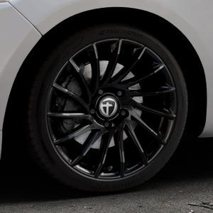 TOMASON TN16 Black painted Felge mit Reifen schwarz in 18Zoll Winterfelge Alufelge auf silbernem Ford Mondeo IV Limousine Typ BA7 Turnier Fließheck ⬇️ mit 15mm Tieferlegung ⬇️ Industriehalle 1 Thumbnail
