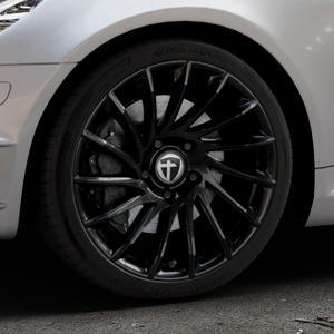 TOMASON TN16 Black painted Felge mit Reifen schwarz in 18Zoll Winterfelge Alufelge auf silbernem Mercedes SLK Typ R171 ⬇️ mit 15mm Tieferlegung ⬇️ Industriehalle 1 Thumbnail