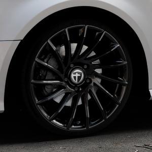TOMASON TN16 Black painted Felge mit Reifen schwarz in 19Zoll Winterfelge Alufelge auf silbernem Audi A3 Typ 8V Facelift ⬇️ mit 15mm Tieferlegung ⬇️ Industriehalle 1 Thumbnail