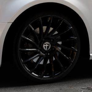 TOMASON TN16 Black painted Felge mit Reifen schwarz in 19Zoll Winterfelge Alufelge auf silbernem Audi A3 Typ 8V (Sportback) ⬇️ mit 15mm Tieferlegung ⬇️ Industriehalle 1 Thumbnail