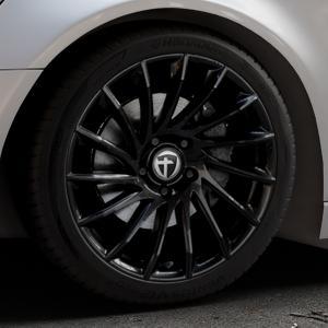 TOMASON TN16 Black painted Felge mit Reifen schwarz in 19Zoll Winterfelge Alufelge auf silbernem Audi A6 Typ 4G/C7 (Avant) ⬇️ mit 15mm Tieferlegung ⬇️ Industriehalle 1 Thumbnail