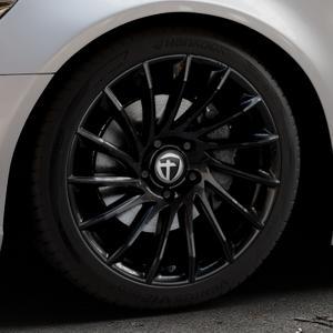 TOMASON TN16 Black painted Felge mit Reifen schwarz in 19Zoll Winterfelge Alufelge auf silbernem Audi A6 Typ 4G/C7 (Limousine) ⬇️ mit 15mm Tieferlegung ⬇️ Industriehalle 1 Thumbnail