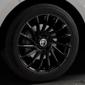 TOMASON TN16 Black painted Felge mit Reifen schwarz in 19Zoll Winterfelge Alufelge auf silbernem Ford Edge Typ SBF ⬇️ mit 15mm Tieferlegung ⬇️ Industriehalle 1 Thumbnail