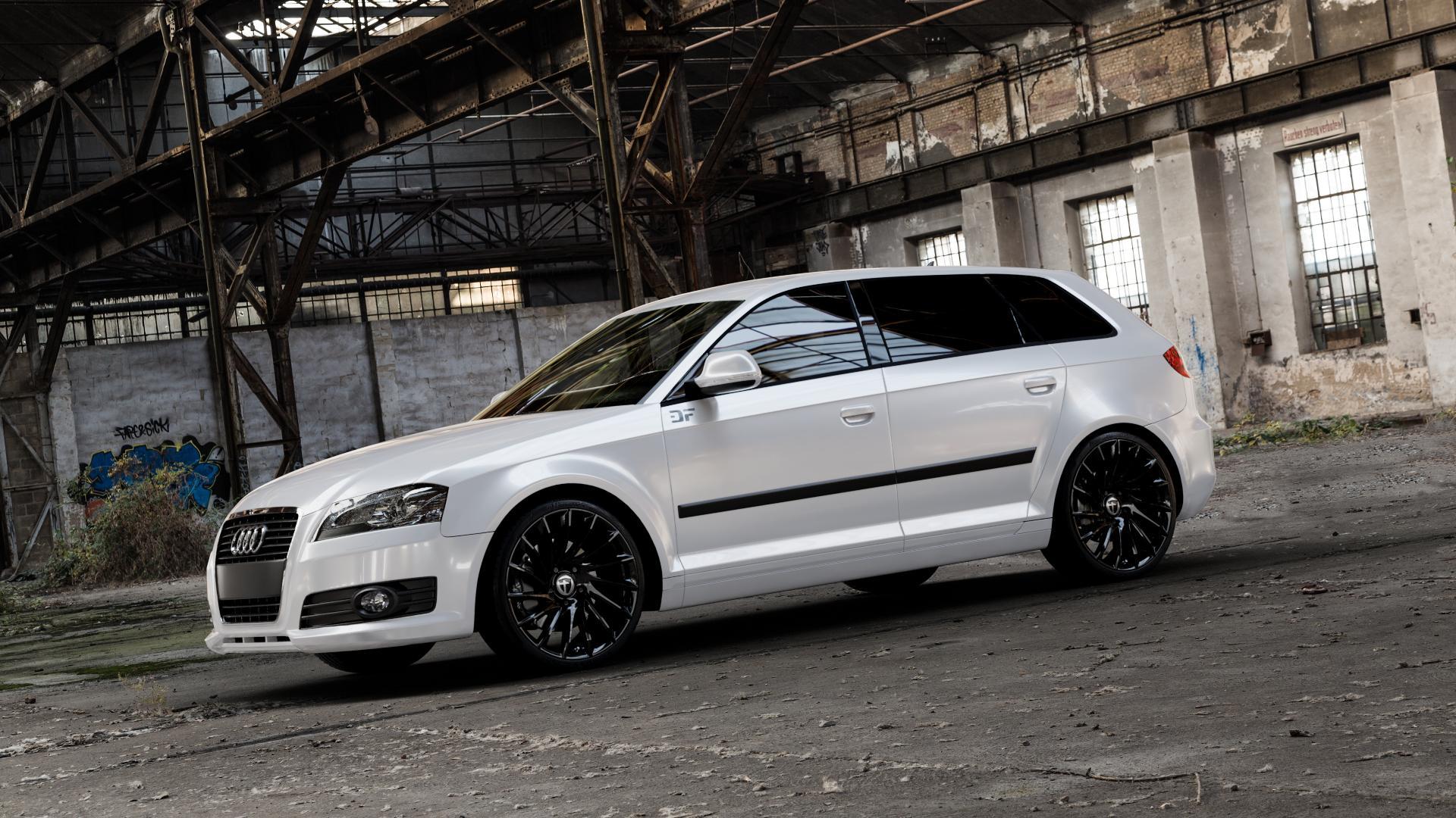 TOMASON TN16 Black painted Felge mit Reifen schwarz in 19Zoll Winterfelge Alufelge auf weissem Audi A3 Typ 8P (Sportback) 1,6l 75kW (102 PS) 2,0l FSI 110kW (150 1,9l TDI 77kW (105 103kW (140 TFSI 147kW (200 85kW (116 100kW (136 1,8l 118kW (160 125kW (170 1,4l 92kW (125 120kW (163 quattro 3,2l V6 184kW (250 S3 195kW (265 1,2l 66kW (90 18