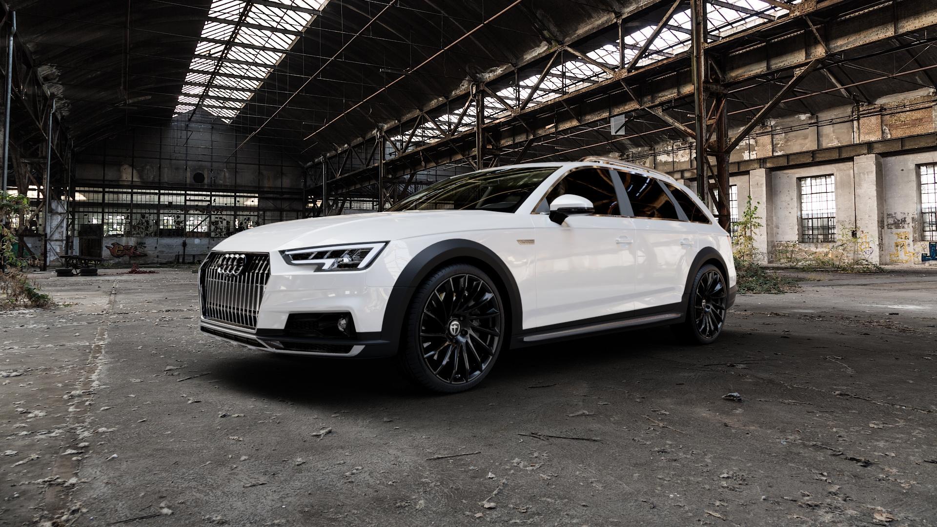 TOMASON TN16 Black painted Felge mit Reifen schwarz in 20Zoll Winterfelge Alufelge auf weissem Audi A4 Typ B9 Allroad ⬇️ mit 15mm Tieferlegung ⬇️ Industriehalle 1 Camera_000