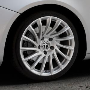 TOMASON TN16 Bright Silver Felge mit Reifen silber in 18Zoll Winterfelge Alufelge auf silbernem Alfa Romeo Giulietta Typ 940 ⬇️ mit 15mm Tieferlegung ⬇️ Industriehalle 1 Thumbnail