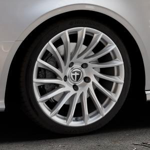 TOMASON TN16 Bright Silver Felge mit Reifen silber in 18Zoll Winterfelge Alufelge auf silbernem Audi A3 Typ 8V (Cabriolet) ⬇️ mit 15mm Tieferlegung ⬇️ Industriehalle 1 Thumbnail