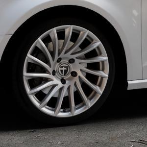 TOMASON TN16 Bright Silver Felge mit Reifen silber in 18Zoll Winterfelge Alufelge auf silbernem Audi A3 Typ 8V ⬇️ mit 15mm Tieferlegung ⬇️ Industriehalle 1 Thumbnail