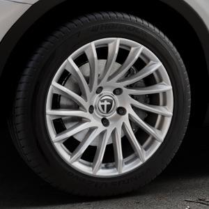 TOMASON TN16 Bright Silver Felge mit Reifen silber in 18Zoll Winterfelge Alufelge auf silbernem BMW X3 Typ F25 (X3, X-N1) ⬇️ mit 15mm Tieferlegung ⬇️ Industriehalle 1 Thumbnail