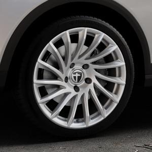 TOMASON TN16 Bright Silver Felge mit Reifen silber in 18Zoll Winterfelge Alufelge auf silbernem Seat Arona Typ KJ ⬇️ mit 15mm Tieferlegung ⬇️ Industriehalle 1 Thumbnail