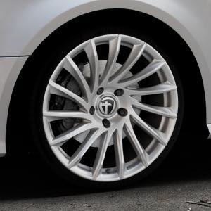 TOMASON TN16 Bright Silver Felge mit Reifen silber in 19Zoll Winterfelge Alufelge auf silbernem Audi A3 Typ 8V Facelift ⬇️ mit 15mm Tieferlegung ⬇️ Industriehalle 1 Thumbnail