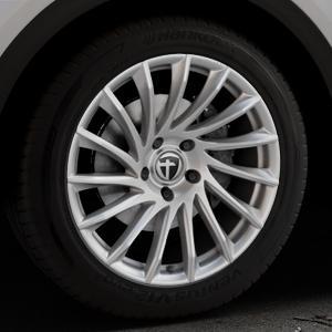 TOMASON TN16 Bright Silver Felge mit Reifen silber in 19Zoll Winterfelge Alufelge auf silbernem Audi Q5 II Typ FY ⬇️ mit 15mm Tieferlegung ⬇️ Industriehalle 1 Thumbnail