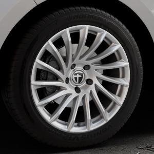 TOMASON TN16 Bright Silver Felge mit Reifen silber in 19Zoll Winterfelge Alufelge auf silbernem Ford Edge Typ SBF ⬇️ mit 15mm Tieferlegung ⬇️ Industriehalle 1 Thumbnail