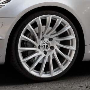 TOMASON TN16 Bright Silver Felge mit Reifen silber in 19Zoll Winterfelge Alufelge auf silbernem Mercedes SLK Typ R171 ⬇️ mit 15mm Tieferlegung ⬇️ Industriehalle 1 Thumbnail