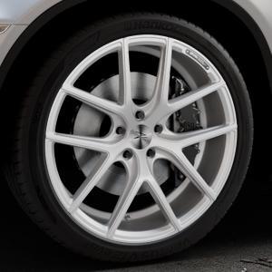 Z-Performance ZP.09 Deep Concave Sparkling Silver Felge mit Reifen silber in 21Zoll Winterfelge Alufelge auf silbernem BMW X6 Typ E71 (X70, X6, X-N1, HY) ⬇️ mit 15mm Tieferlegung ⬇️ Industriehalle 1 Thumbnail